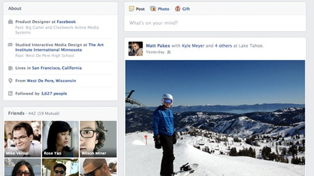 PHOTO: Facebook's redesigned Timeline