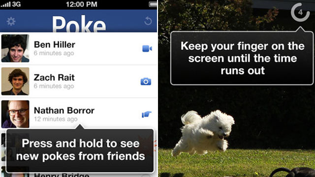PHOTO: Facebooks new Poke app is a messaging app where messages disappear after a few seconds.