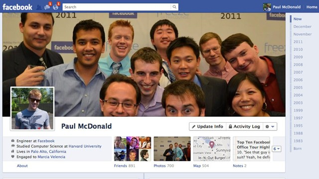 PHOTO: Facebook rolls out the new Timeline layout worldwide this week.
