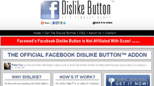 "PHOTO  one start-up actually offers a Web browser plug-in that installs a legitimate ""dislike"" button on Facebook."