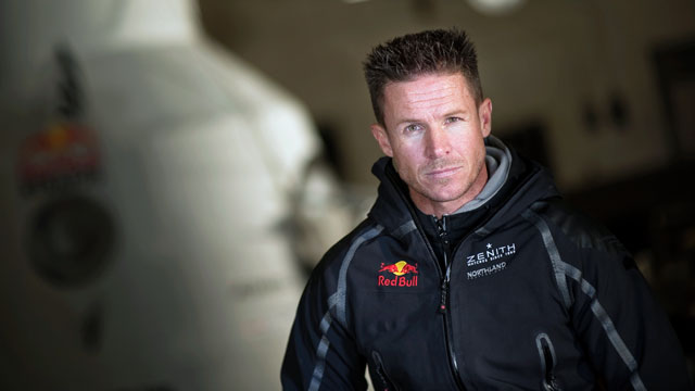 PHOTO: Pilot Felix Baumgartner of Austria poses for the camera during the Red Bull Stratos project, a mission to the edge of space to break the speed of sound in freefall at Roswell, New Mexico, Dec. 4, 2011.