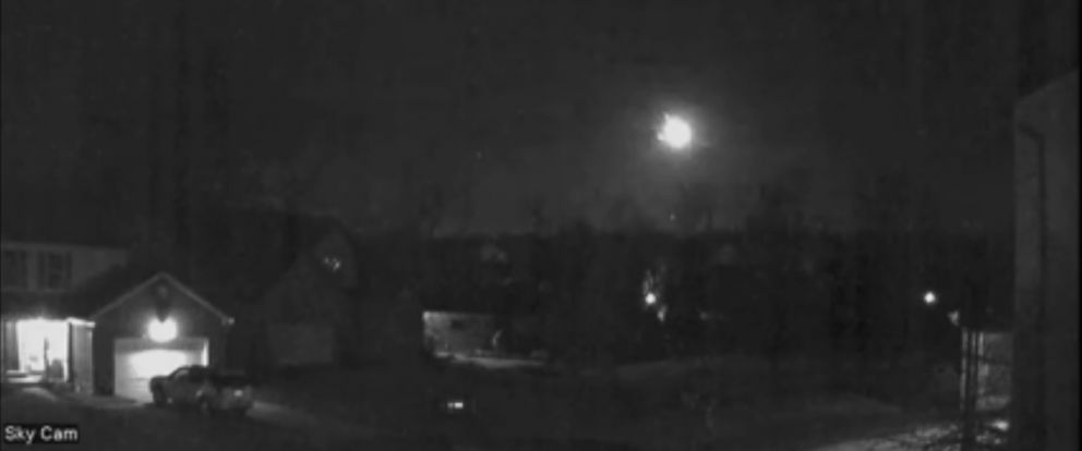 PHOTO:A fireball was caught on camera as it streaked across the sky.
