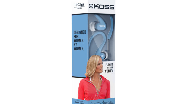 "PHOTO: Koss Fitclips were ""designed by women, for women."""
