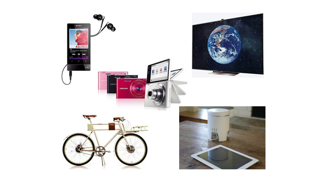 "PHOTO:Top 5 Gadgets of the Week: Samsung's 75"" HDTV, Farady Concept E-Bike, POP Charger, Sony Walkman F800"