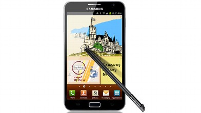 PHOTO: The Galaxy Note's 5.3-inch display makes it a phone-tablet hybrid.