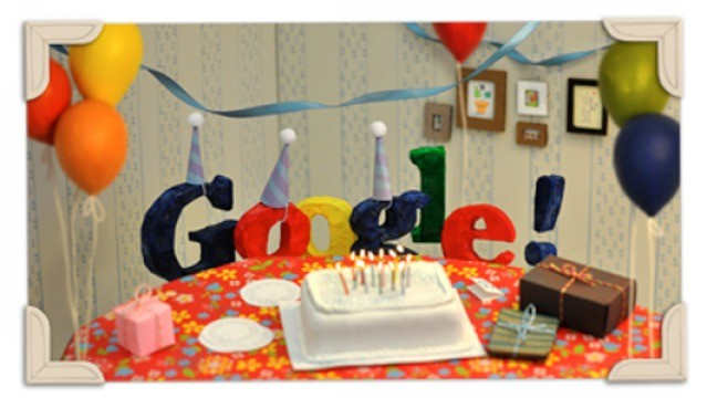 Google Doodle: Happy 13th Birthday Google