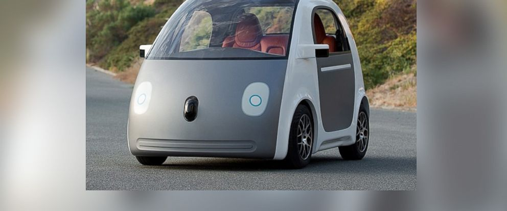 "PHOTO: Google posted this photo to their Instagram on May 27, 2014 with the caption, ""Imagine a future where you get in your car and just press go. Heres an early peek at the next stop on the road to a self-driving car."""