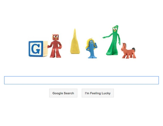 Google Doodle: Gumby Creator Art Clokey's 90th Birthday