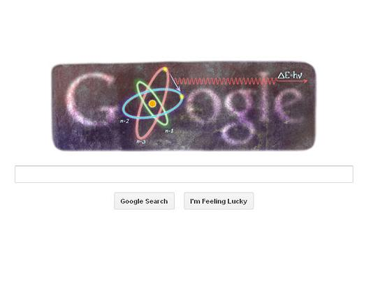 Google Doodle: Niels Bohr's 127th birthday