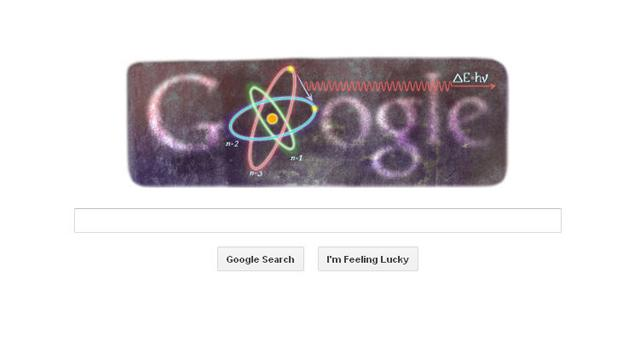 Google Doodle: Niels Bohrs 127th birthday