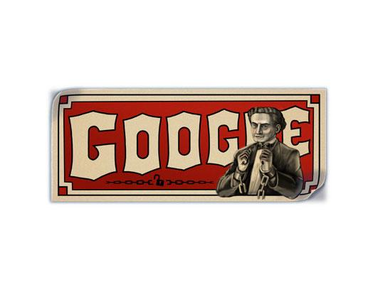 Google Doodle Celebrates the 137th birthday of Harry Houdini