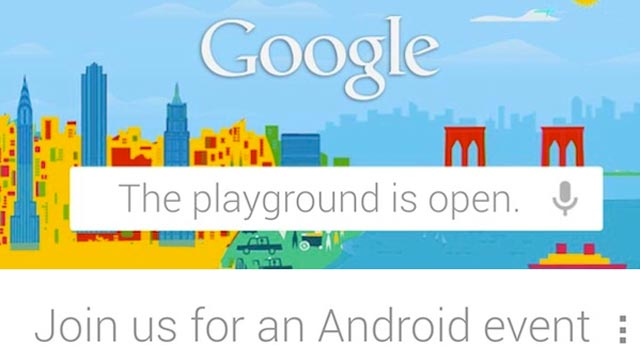 PHOTO: Googles invitation to its Android event on Oct. 29, 2012.
