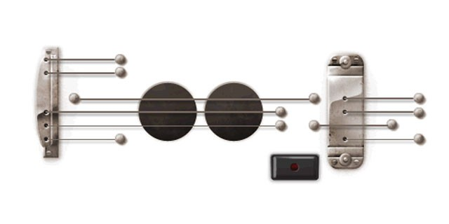 PHOTO:&nbsp;Google launched a playable Doodle honoring guitar legend Les Paul's 96th birthday, June 9, 2011.
