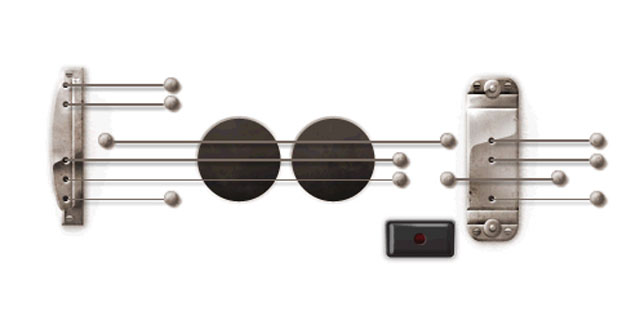 PHOTO: Google launched a playable Doodle honoring guitar legend Les Pauls 96th birthday, June 9, 2011.