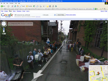 street party the street view in google maps