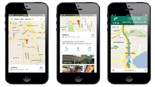 PHOTO:&nbsp;Google Maps App for iPhone