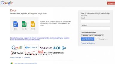 PHOTO: Google shared this image as an example of a phishing site with the announcement of their new open source Chrome extension to protect passwords on April 29, 2015.