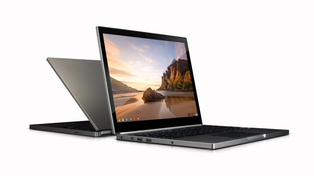 PHOTO: Googles Pixel laptop runs Chrome OS and starts at $1,299.
