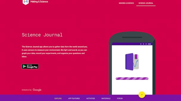 PHOTO: Google's new Science Journal app allows users to conduct scientific research on their smartphones.