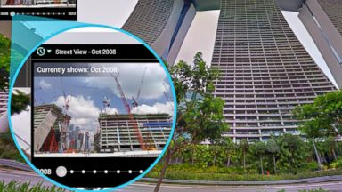 PHOTO: Google Streetview view of Singapore, showing the same place through the years.