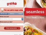 PHOTO: GrubHub and Seamless Web food delivery apps will merge.