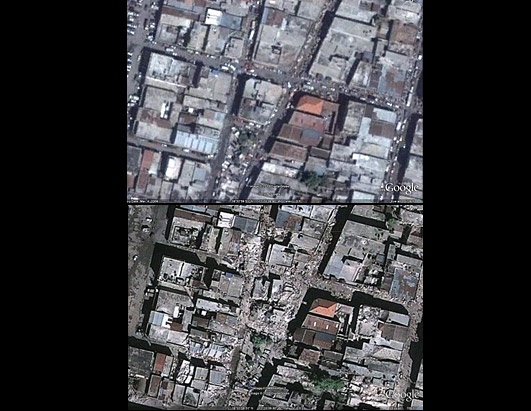 haiti before and after earthquake. Photos of Haiti Before and After the Earthquake