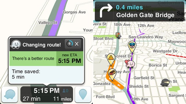 PHOTO: Waze, a social traffic app, has been acquired by Google.