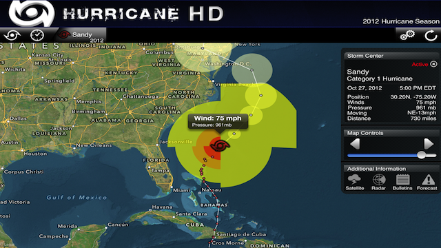 PHOTO: Hurricane HD for iPhone and iPad.