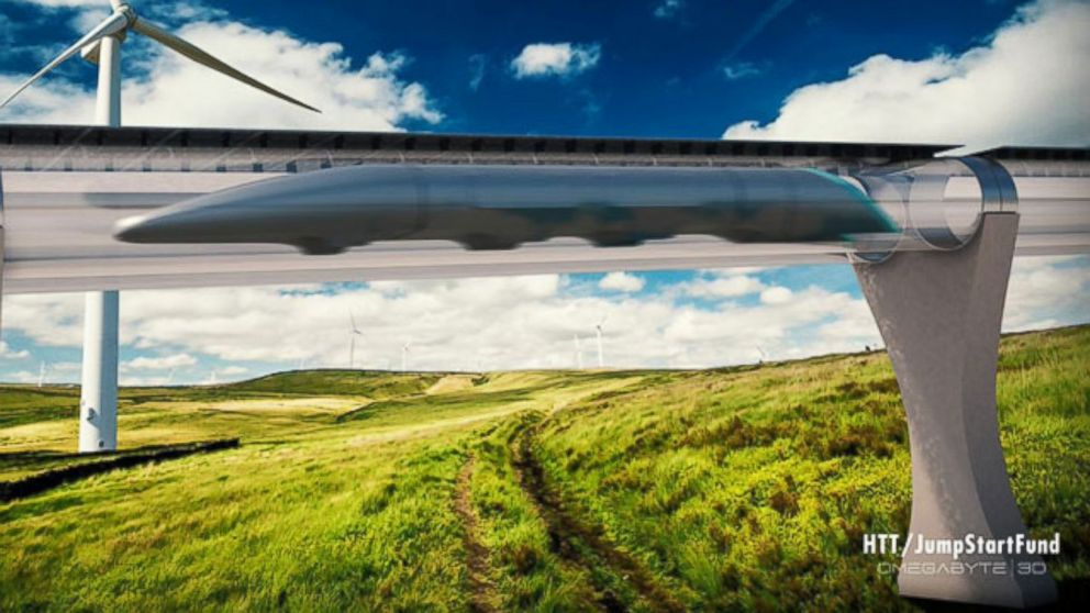 PHOTO: A rendering of a Hyperloop.