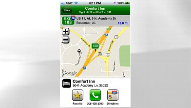 PHOTO: iExit uses GPS to find the nearest exit on the highway.