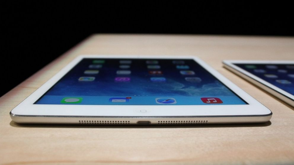 PHOTO: The iPad Air weighs just a pound.