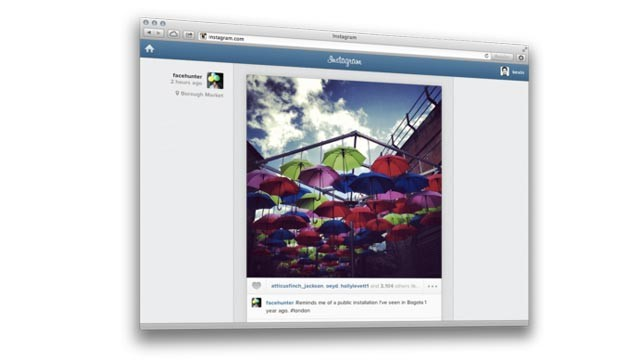 PHOTO: Instagram's web feed allows you to see your photos on your laptop or desktop.