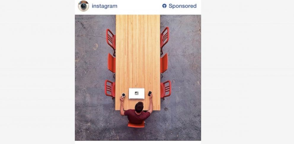 PHOTO: A sample of what an advertisement on Instagram will look like.