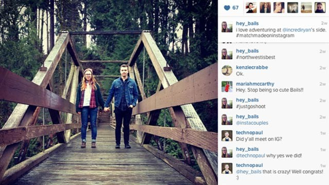 PHOTO: A couple from the Seattle area met on Instagram