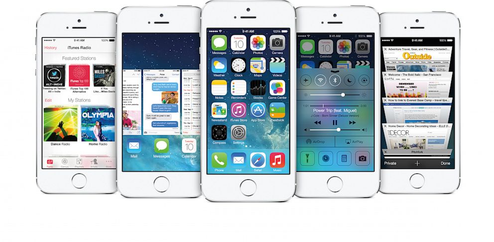 PHOTO: iOS 7