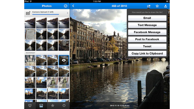 PHOTO: Dropbox is a free app for the iPad for syncing your files, photos, and music.