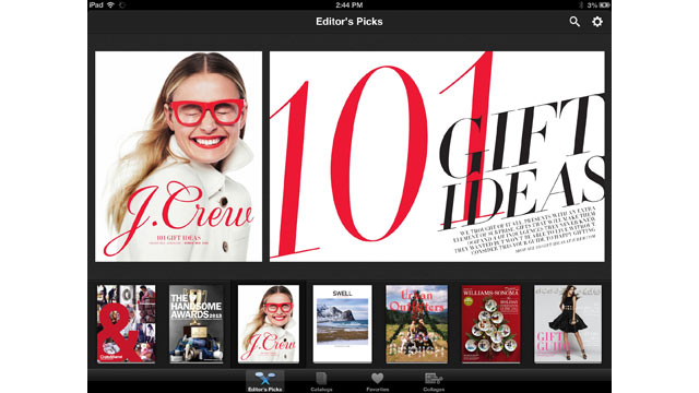 PHOTO: Google's Catalog's brings paper catalogs to the iPad.