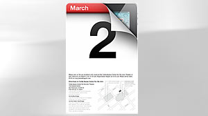 PHOTO: Apple announced Feb. 23, 2011 that it will hold a special media event on March 2, and industry watchers widely believe that the topic of the day will be Apples iPad 2.