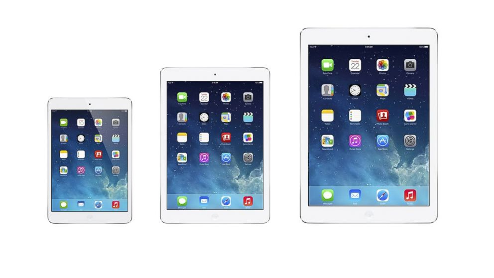 PHOTO: Apple is rumored to be working on a bigger iPad. A mockup of what the future of the iPad family migh
