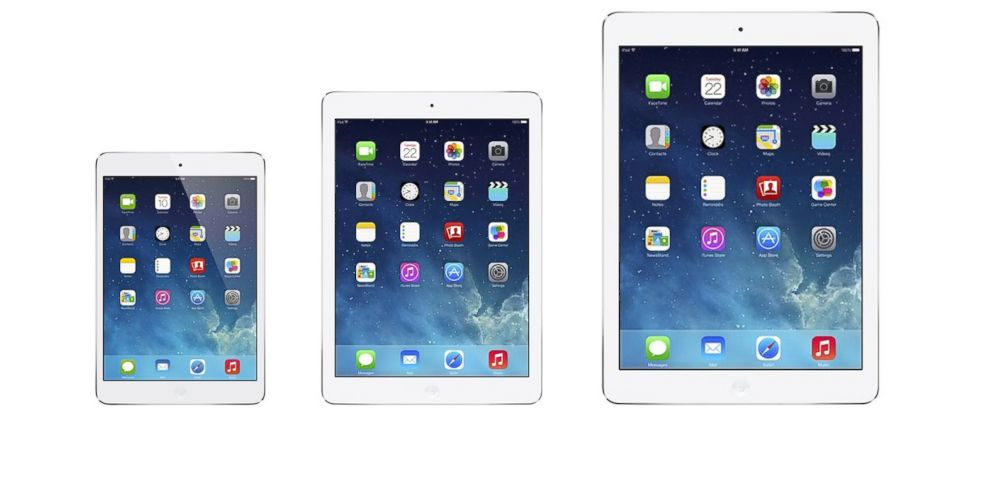 PHOTO: Apple is rumored to be working on a bigger iPad. A mockup of what the future of the iPad family might look like.
