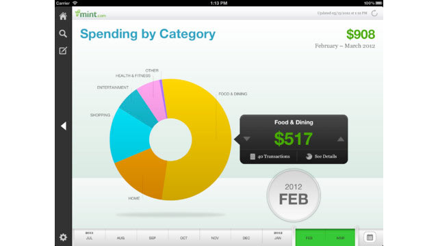PHOTO: Mint is a great app for tracking your expenses and budgets.