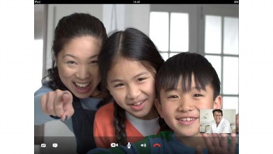 PHOTO: Skype for the iPad supports video calling and multi-user calls.