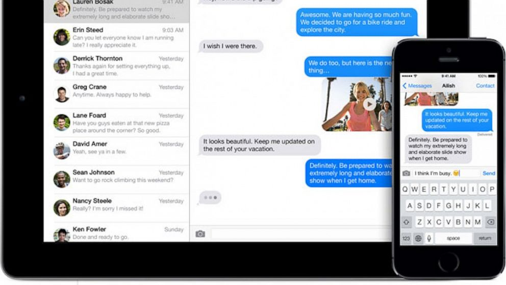 PHOTO: Apples iMessage is available across iOS devices.