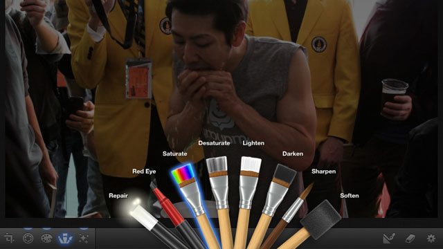 PHOTO: iPhoto for iPad lets you edit photos right on the tablet.
