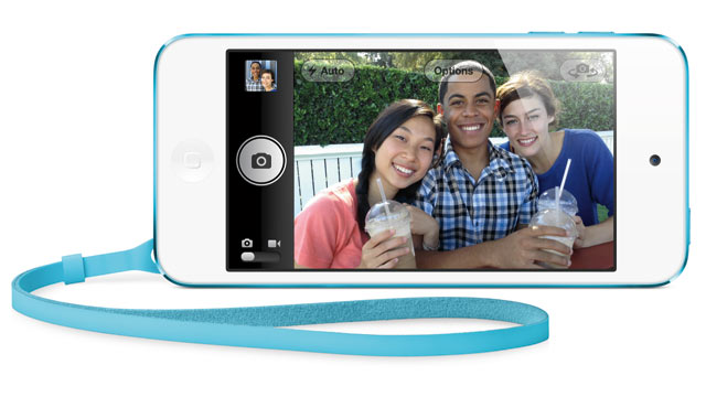 PHOTO: The iPod Touch is now thinner, although it has an iSight camera and faster processor.
