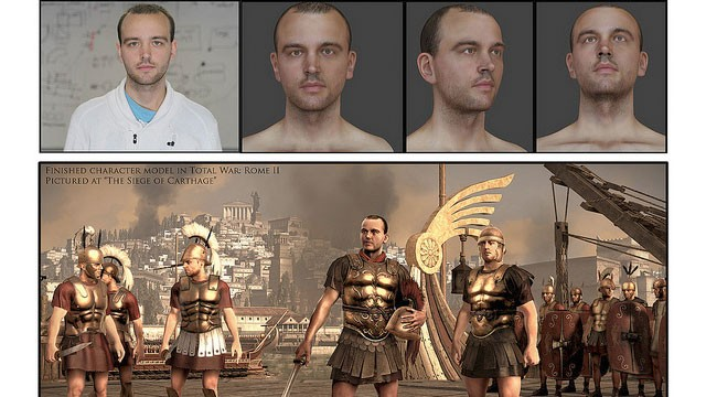 PHOTO: James, a 24-year-old cancer patient, was recreated as a Roman soldier in the game