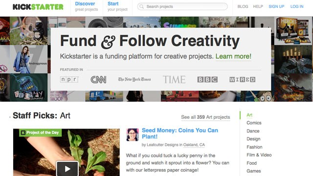 PHOTO: Websites like Kickstarter let anyone create products and get funding from the crowd.