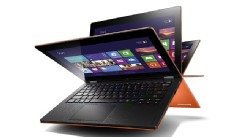 PHOTO: Lenovo IdeaPad Yoga turns from laptop into Windows 8 tablet.