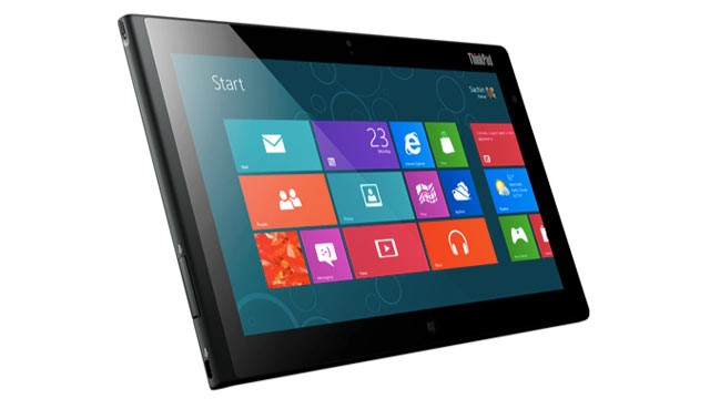 PHOTO: Lenovos ThinkPad Tablet 2 runs Windows 8, has an Intel processor, and has a stylus.