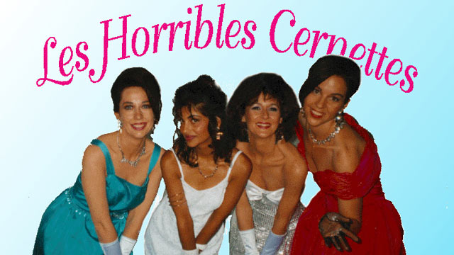 PHOTO: Les Horribles Cernettes, a comedic musical group at CERN, strike a pose in the first photo ever to be uploaded to the Internet.